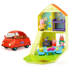 Piggy Paige house, toy house, toy car, toy girl, girl child, male child child birthday gift