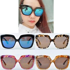 韩国品牌太阳镜女 复古大框墨镜豹纹 摭阳 防紫外线太阳眼镜潮图片