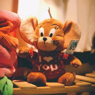 杰瑞小老鼠丑萌玩偶公仔毛绒玩具可爱娃娃汤姆猫和老鼠抱枕女礼物