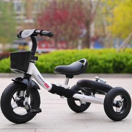 原真七彩新款儿童三轮脚踏车无脚踏滑步车两轮平衡车变形组合童车图片