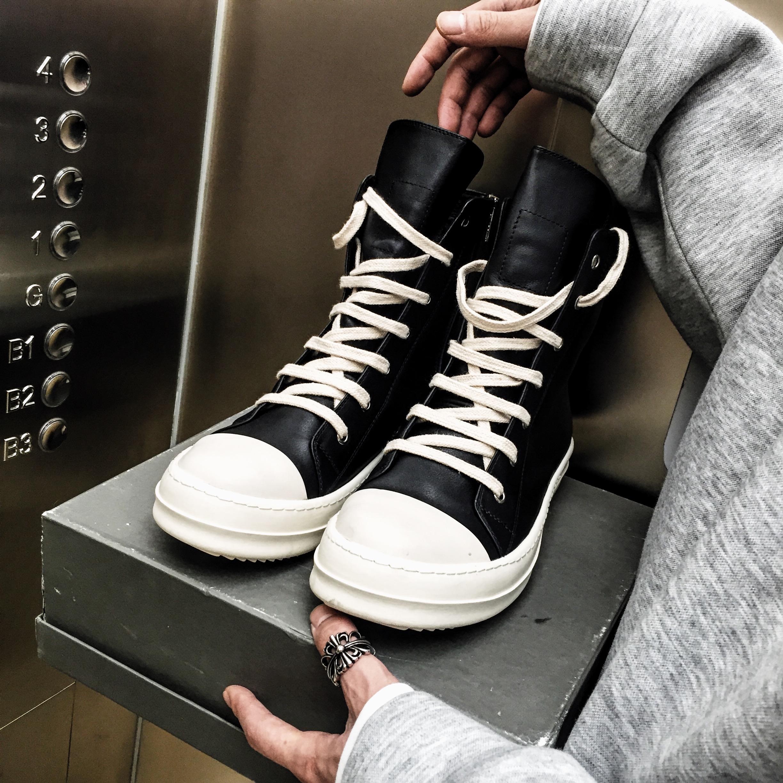 BEFINE新款欧美大牌高街全牛皮原装底高帮靴硫化刺绣帆布鞋男女款优惠券