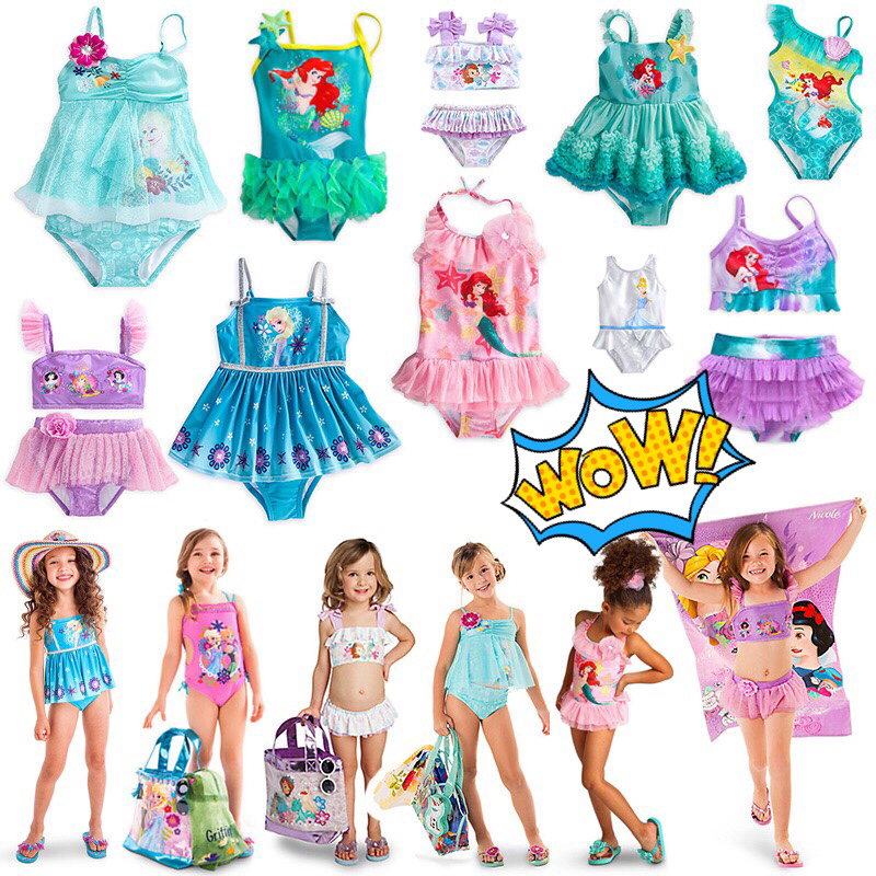 Summer new style exotic girls one-piece split swimsuit ice and snow strange fate Mermaid childrens cartoon Princess swimsuit