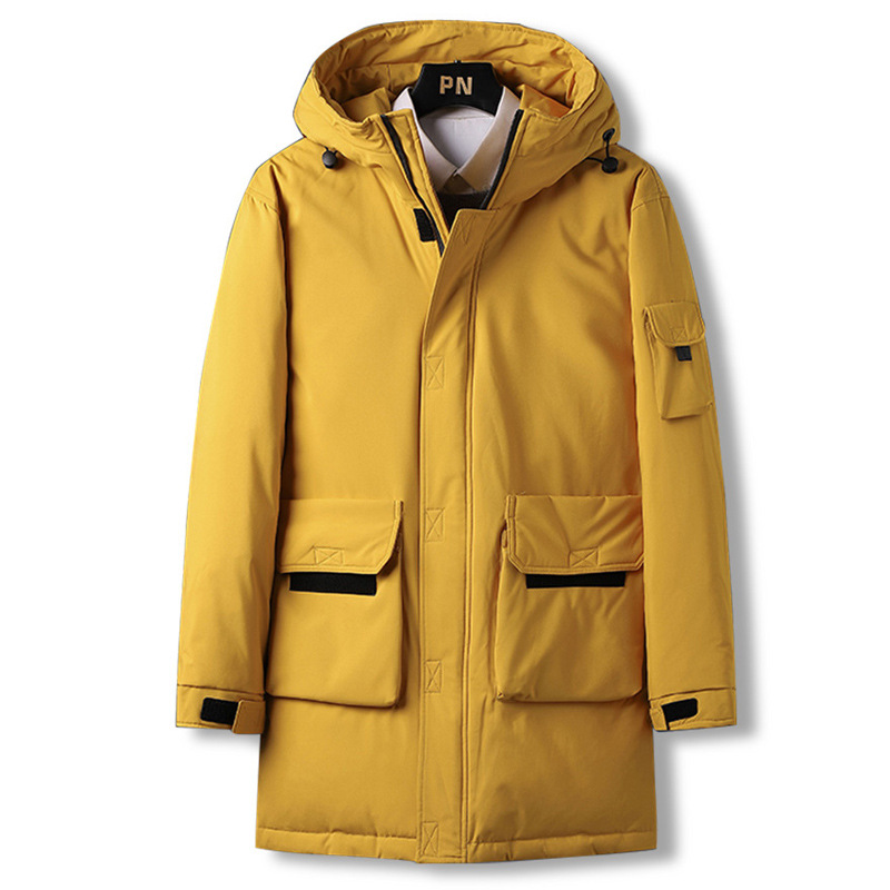 新款男士羽绒服冬季外套男女装修身中长款情侣潮牌服装加绒加厚