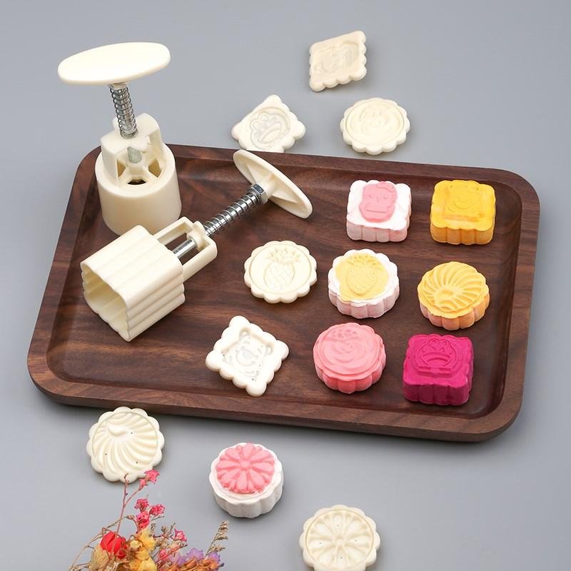 做月饼模具家用点心的烘焙工具糕点小蛋糕压花馒头手压式模型套装