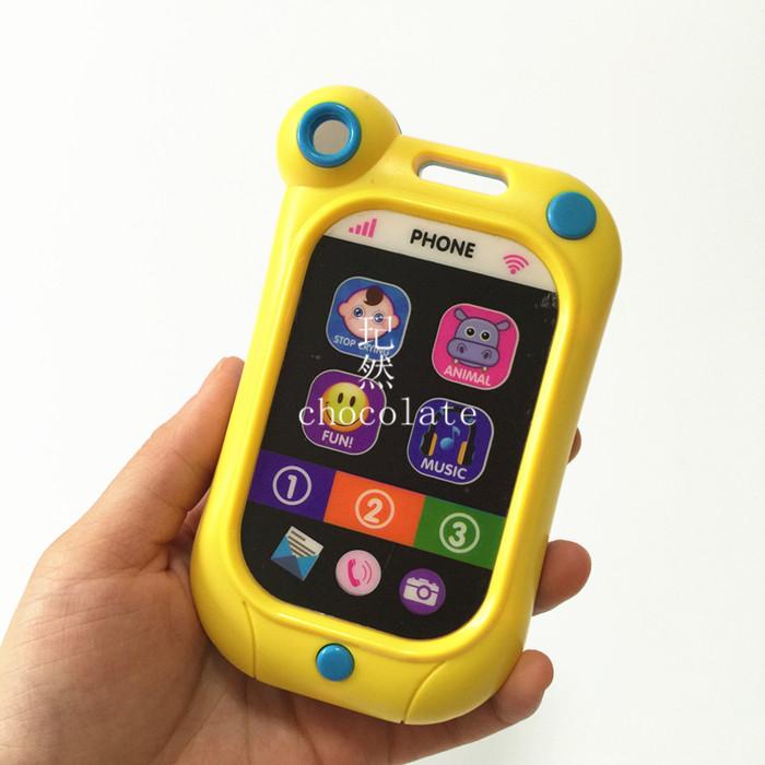 Бесплатная доставка по китаю на младенца Критический артефакт детские копия Истинный сенсорный экран смартфон Музыкальные игрушки детские Мобильный 0-2 лет