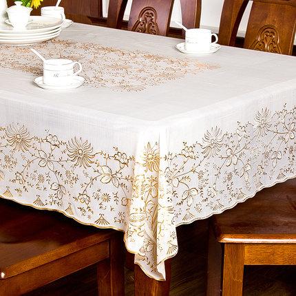 欧式餐桌布防水防油防烫免洗塑料PVC台布茶几桌垫网红ins长方形