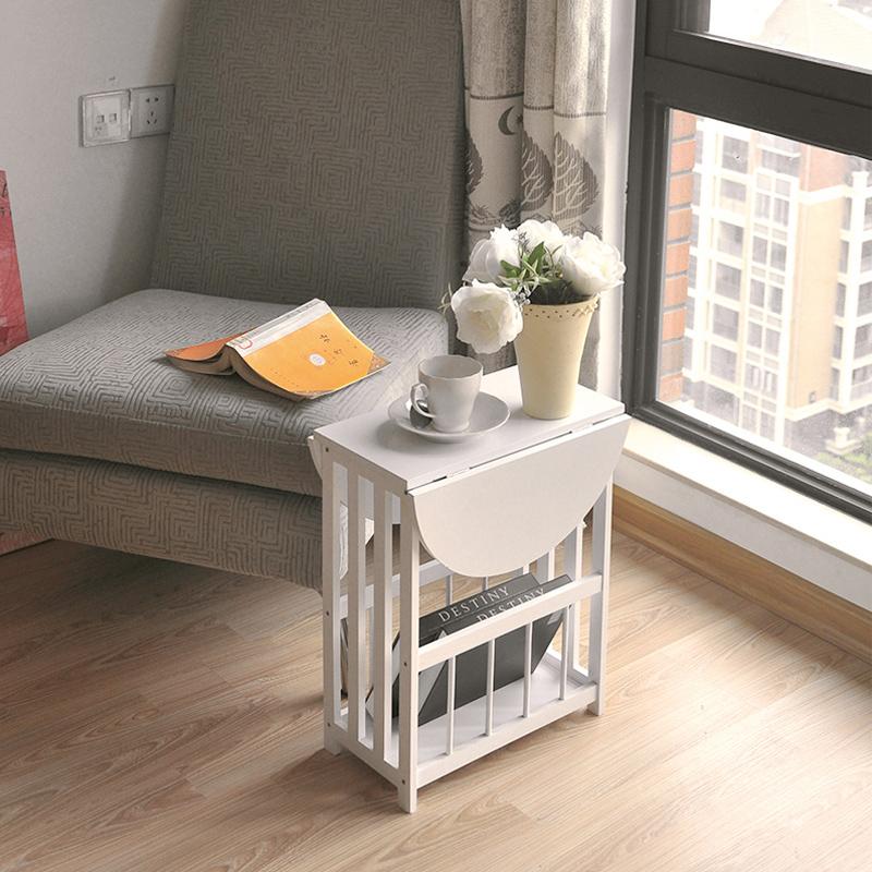 Простой диван небольшой сторона угловой континентальный прикроватный сервант балкон маленький столик складные маленький квадрат стол мини мобильный