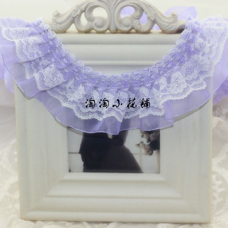 30 meters one Zha Lolita garment accessories 5cm Lace Chiffon Lace DIY accessories skirt angle material