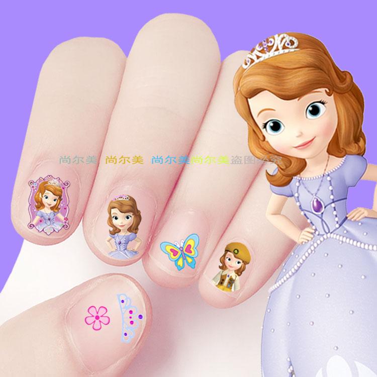 儿童指甲贴美甲贴花苏菲公主指甲贴宝宝小孩环保防水无毒指甲贴纸