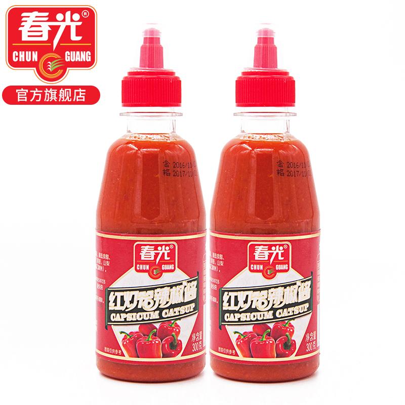 春光食品 海南特产 调味传统制作工艺红灯笼辣椒酱300g*2瓶挤挤装