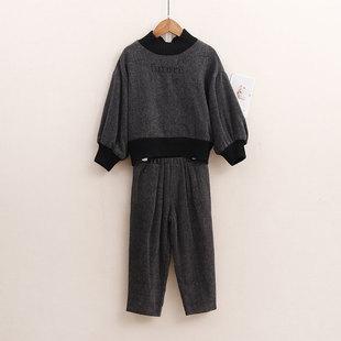 NO系列兒童裝男童秋裝套裝中大童秋季休閒衣服女童長袖長褲兩件套