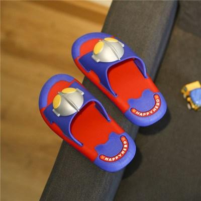 儿童拖鞋2021新款奥特曼超人男男孩大童可爱宝宝夏防滑家居凉拖鞋