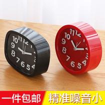 台式创意个姓学生儿童钟表床头静音石英钟桌面小摆件闹钟电子时钟
