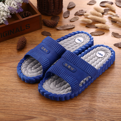 Summer Korean men's slippers home bathroom anti-skid slippers couple plastic cool slippers home indoor word drag