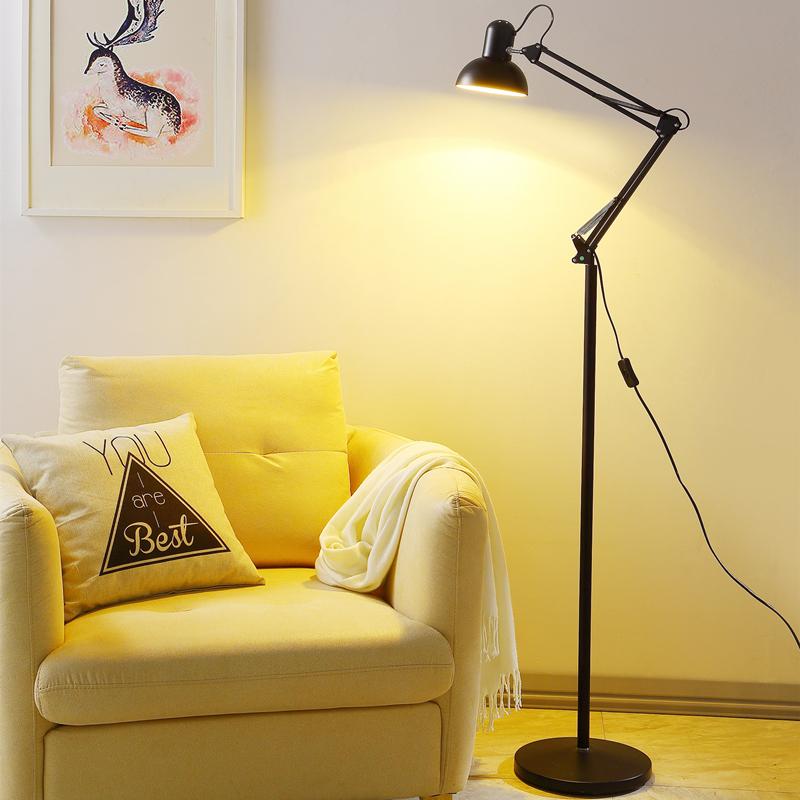 Современный простой творческий перестраиваемый оптический LED американский торшер гостиная книга дом прикроватный глаз настольные лампы тату вышивка