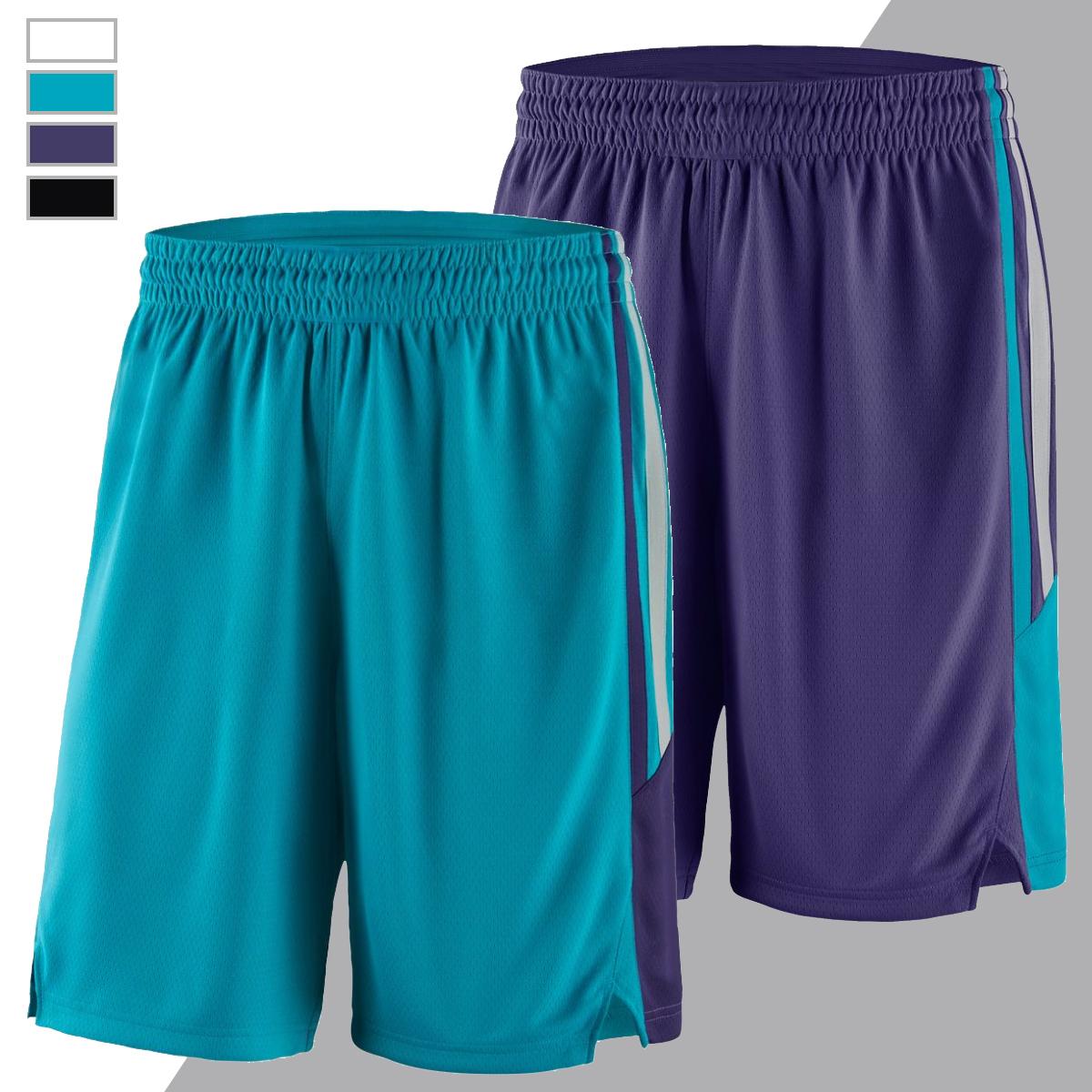 定制新赛季夏洛特白色蓝色紫色黑色沃克蒙克霍华德篮球裤运动短裤