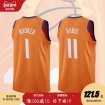 定制1号布克11号卢比奥3号乌布雷球衣橙色新款透气diy背心篮球服