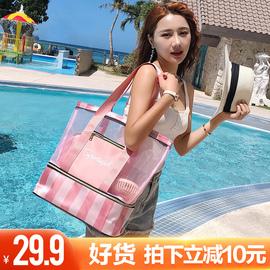 防水干湿分离游泳收纳包儿童泳衣包收纳袋背包运动装备手提沙滩包图片