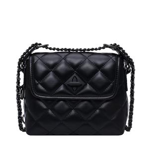 小眾設計包包女2020新款潮時尚菱格鏈條單肩斜挎包ins百搭小方包