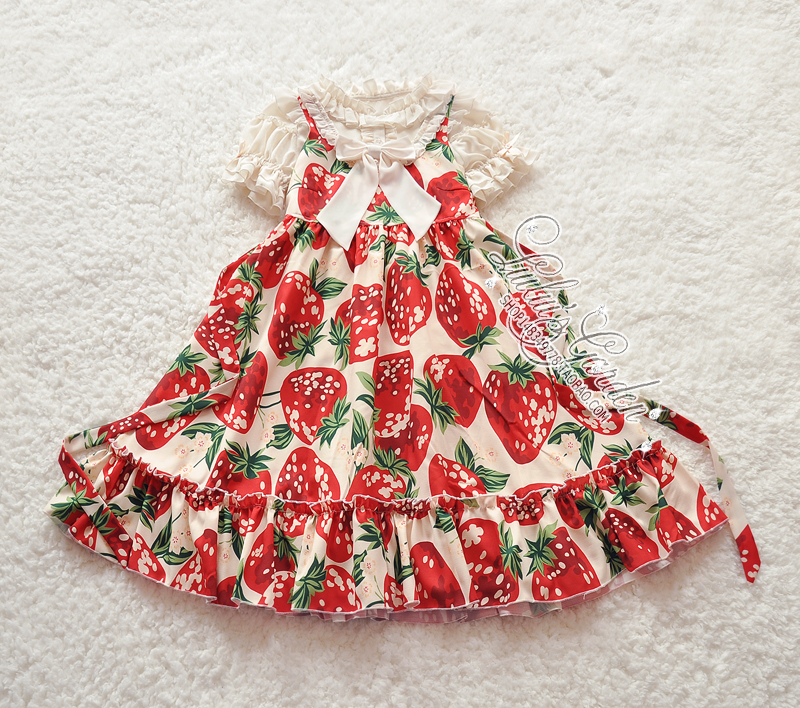 [in stock] Lulus garden summer big strawberry SP dress / jsk / Lolita