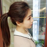 Парик женский длинный прямые волосы природный реалистичное изображение головы переиздание лист хитрость бесшовный пушистый короткий объем увеличение подушка волосы корень передавать лист