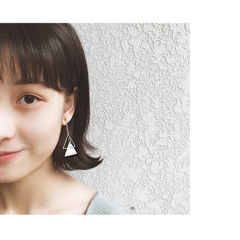 韩国简约树脂三角几何长款女耳环满1元可用1元优惠券