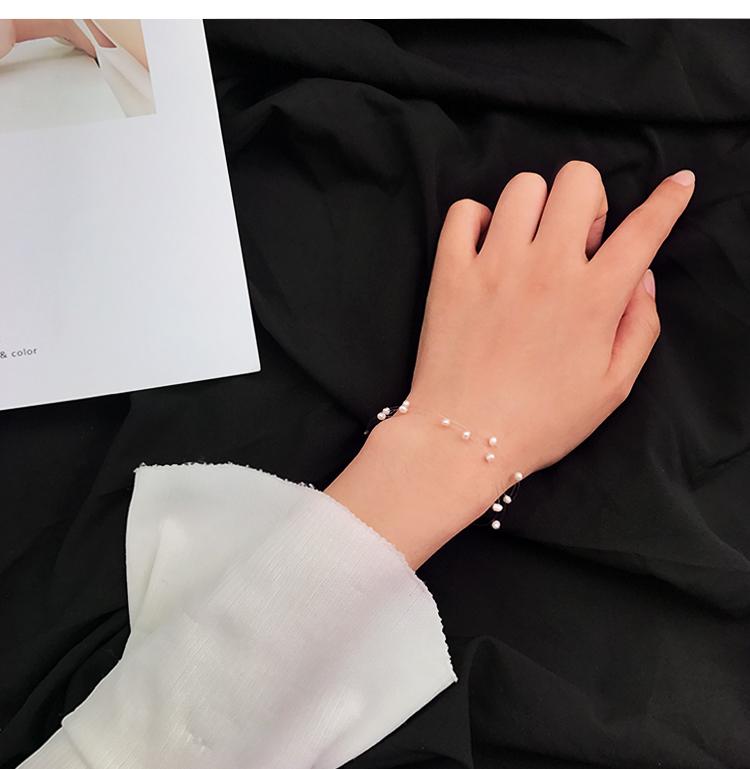 天然淡水珍珠串珠手链女韩国气质百搭清新手饰品手镯配饰学生174