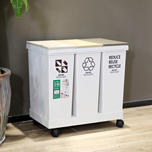 Japan's imported Asvel Classified Dustbin Large Capacity Kitchen Living Room with Covered Commercial and Domestic Dustbin 3 Sets