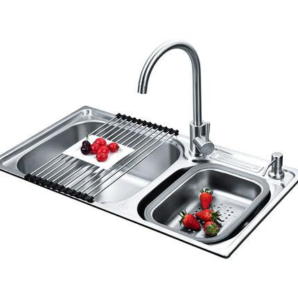 厨房304不锈钢套餐一体加厚洗菜盆