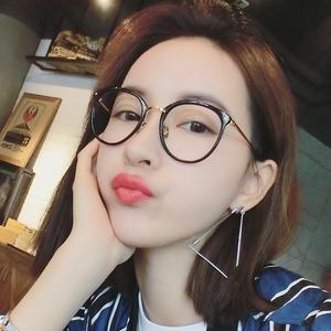 复古圆形眼镜框女韩版潮防辐射平光镜无镜片黑框镜架可配近视眼睛