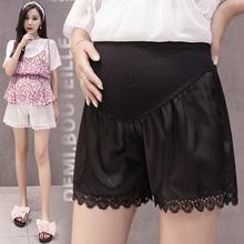 孕妇夏装时尚蕾丝花边短裤宽松外穿防走光安全裤夏季孕妇托腹裤