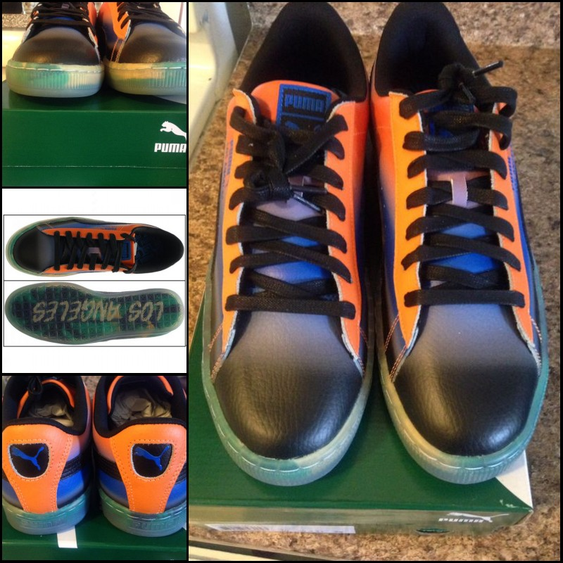 代�彪�R男鞋 Puma Basket City La洛杉��名款水晶底休�e滑板鞋