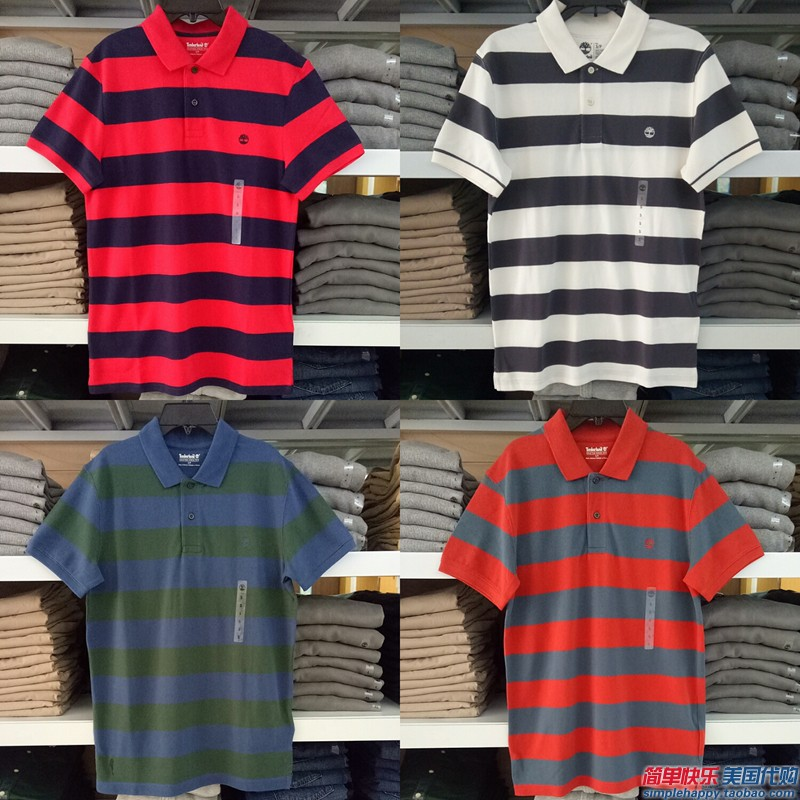 现货 新品 专柜正品Timberland男夏季翻领多色短袖T恤Polo衫