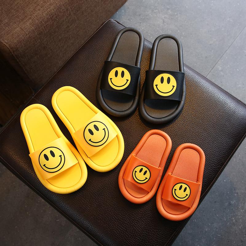 亲子拖鞋女夏天室内笑脸情侣防滑卡通家用凉拖鞋浴室儿童家居拖鞋