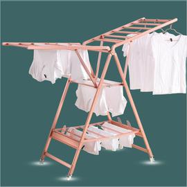 钛铝合金晾衣架落地折叠室内翼型凉衣架家用阳台晒衣架晒被子神器图片