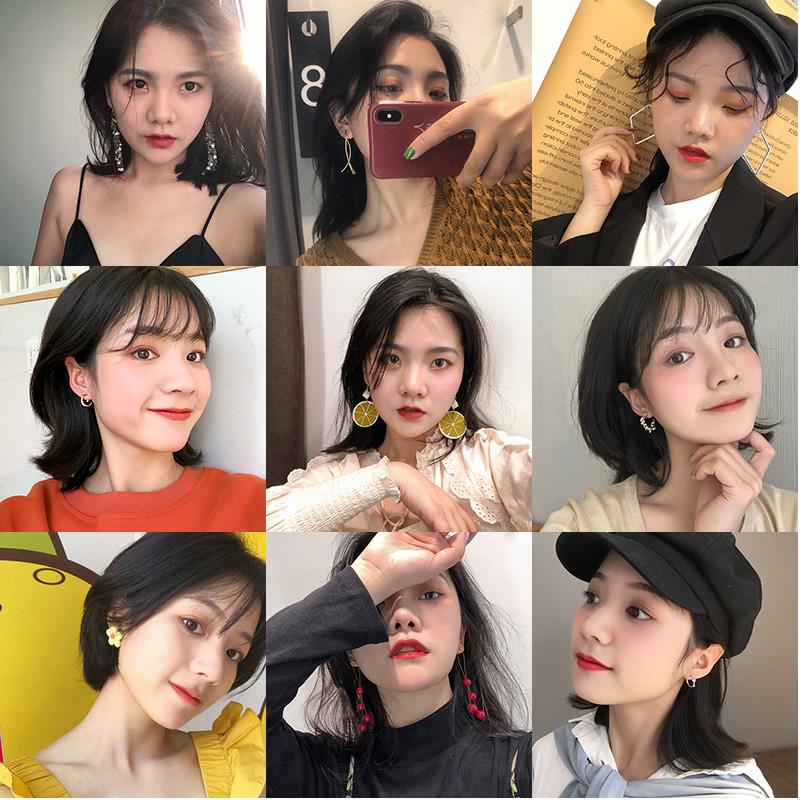 高級感耳環2020年新款潮純銀針韓國氣質網紅耳釘耳墜耳飾品爆款女