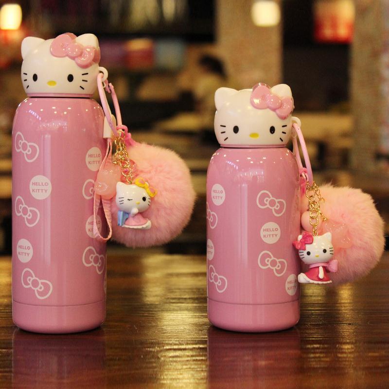 hello kitty凯蒂猫保温杯可爱真空不锈钢儿童水杯女小学生保温杯