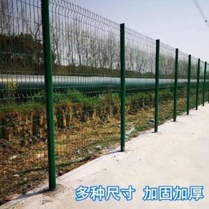 围栏围菜园的护栏网家用钢丝网隔离栏绿色铁丝浸塑工地网格防护栏