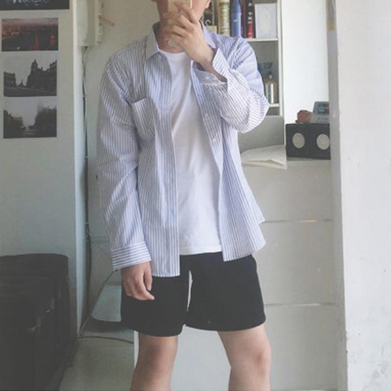 ulzzang裤子港风夏季新款男女装情侣INS同款西装短裤五分黑色百搭