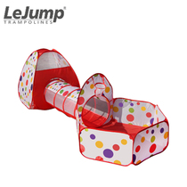 Lejump American Le jumping childrens tent combination game House indoor outdoor home games tunnel Toy Gifts