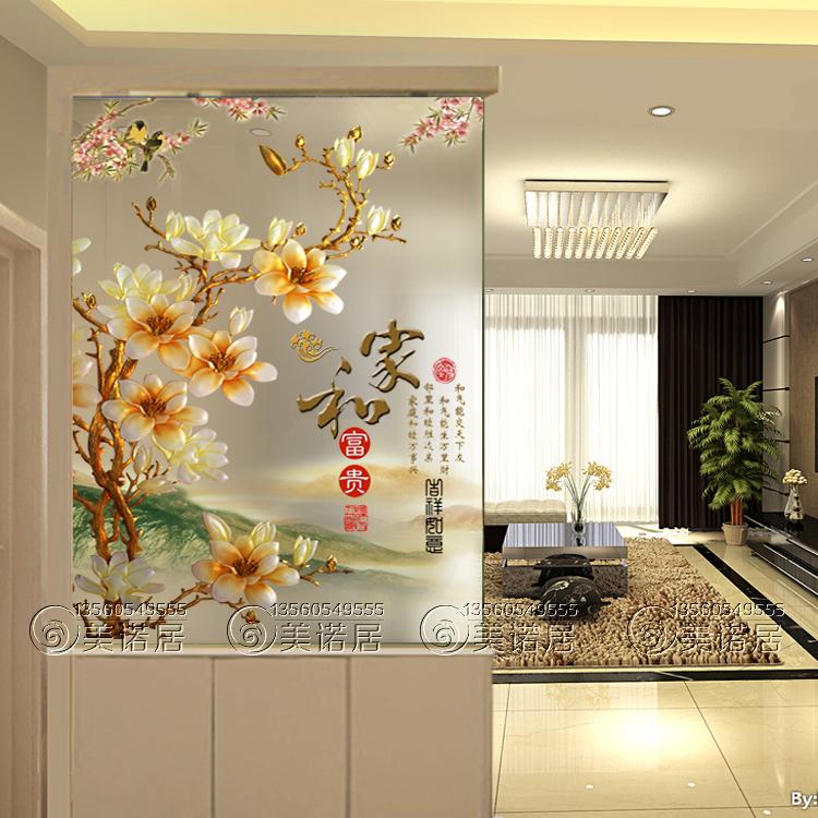 Стеклянная стеклянная гостиная темно резьба по дереву ноутбук Легкий полупрозрачный дом и богатство