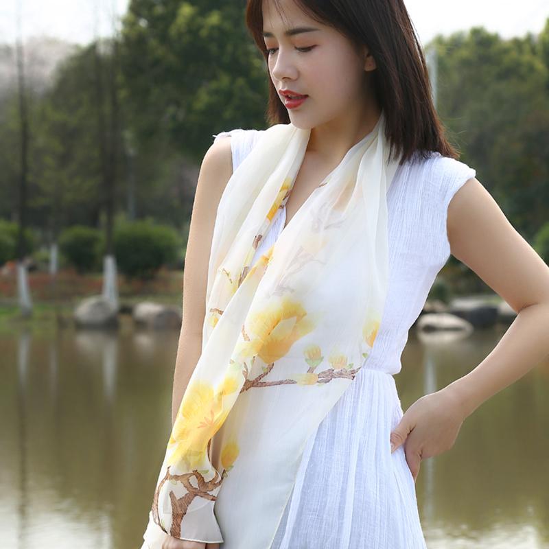 夏季雪纺印花批发百变时尚百搭丝巾