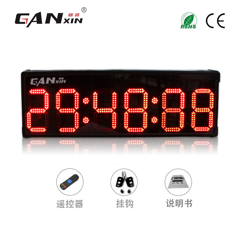 Outdoor waterproof 10 inch 6-digit led countdown second race count timer marathon sports stopwatch