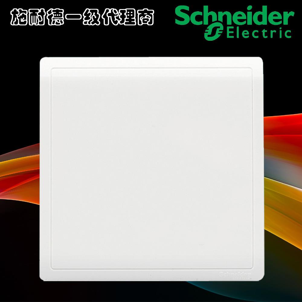 正品施耐德开关插座空白面板E8230X丰尚经典白系列空白板堵板盖板