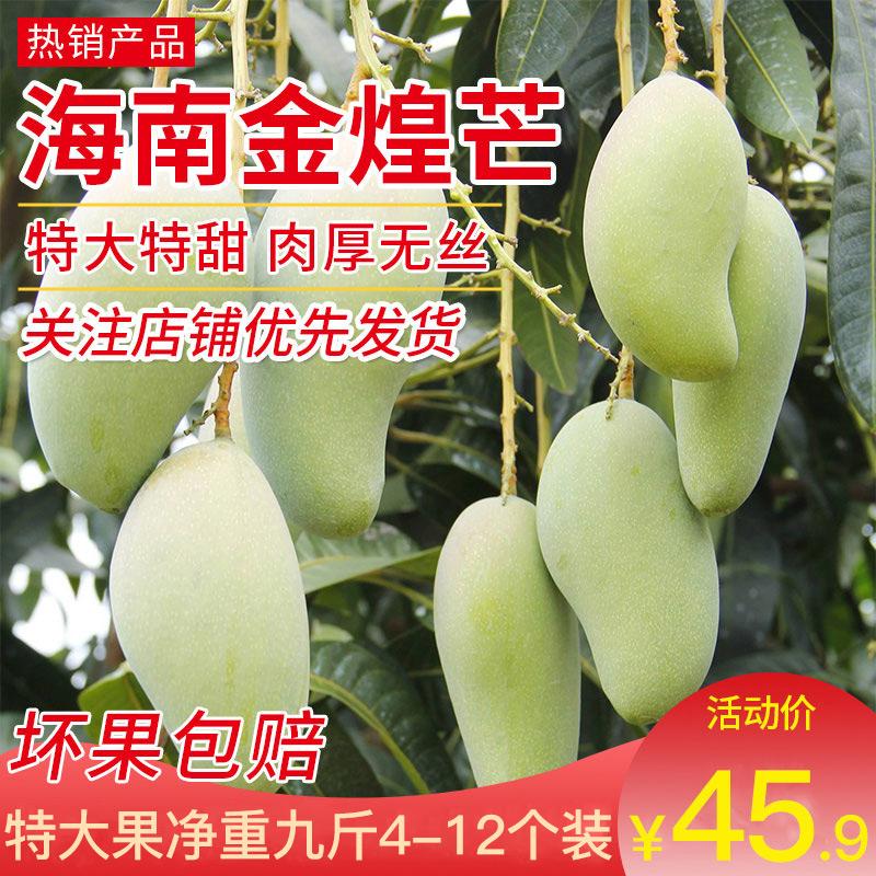 海南金煌水仙芒新鲜金煌芒应季当季水果10斤甜心新鲜越南大青芒果图片