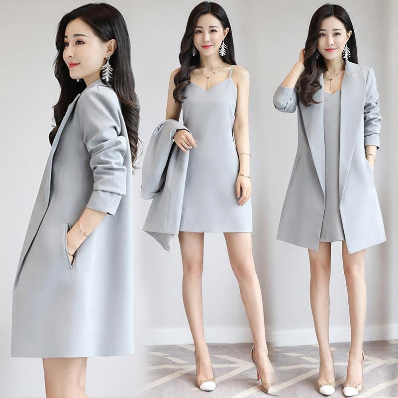 2018秋季新款时髦套装女韩版西装外套女时尚气质淑女两件套装裙潮