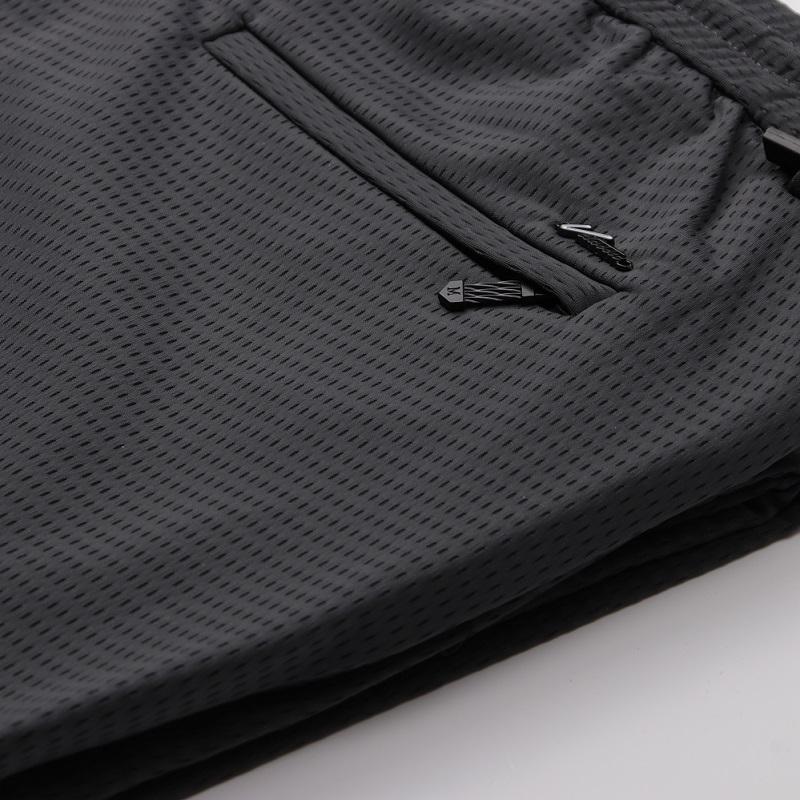 镂空设计丝滑冰丝面料休闲直筒裤子(用5元券)