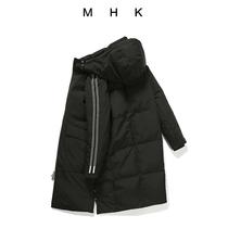 男女可穿长款防风90白鸭绒超暖精工刺绣MHK专柜情侣羽绒服