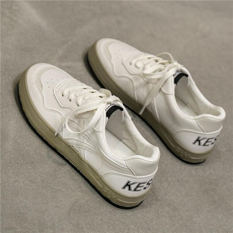 小白鞋女鞋秋季网红透气板鞋百搭爆款2021年新款老爹薄款运动白鞋