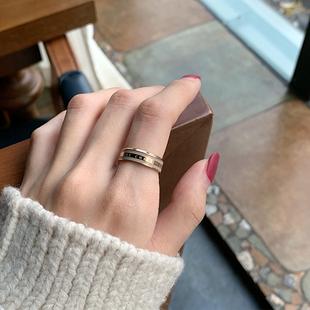 小众设计戒指女ins潮时尚 个性 情侣冷淡风简约气质陶瓷食指指环男